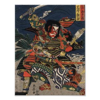 The samurai warriors Tadanori and Noritsune Photographic Print