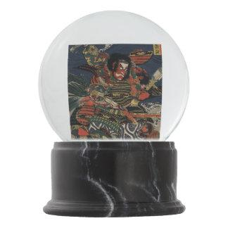The samurai warriors Tadanori and Noritsune Snow Globes