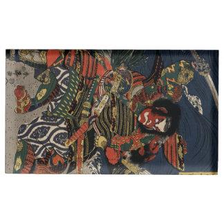 The samurai warriors Tadanori and Noritsune Table Card Holder