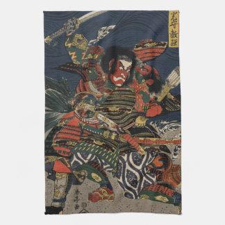 The samurai warriors Tadanori and Noritsune Tea Towel