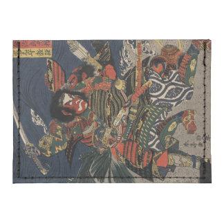 The samurai warriors Tadanori and Noritsune Tyvek® Card Case Wallet