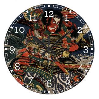 The samurai warriors Tadanori and Noritsune Wall Clock