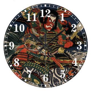 The samurai warriors Tadanori and Noritsune Wall Clocks