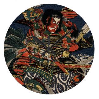 The samurai warriors Tadanori and Noritsune Wallclocks