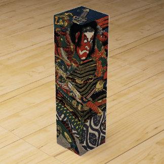 The samurai warriors Tadanori and Noritsune Wine Bottle Box