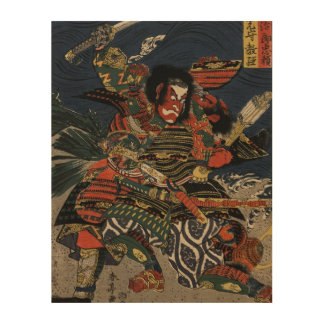 The samurai warriors Tadanori and Noritsune Wood Canvases