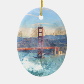 The San Francisco Golden Gate Bridge in California Christmas Ornament