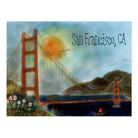 The San Francisco Golden Gate Bridge Postcars Postcard
