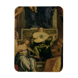 The San Giobbe Altarpiece, detail of angels playin Rectangular Magnet