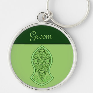 The Sandal Of The Prophet (Green) Silver-Colored Round Key Ring