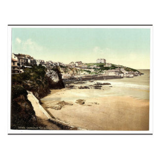 The Sands, Newquay, Cornwall, England classic Phot Postcard