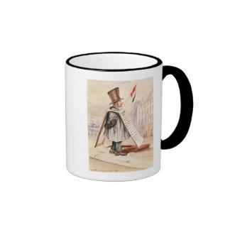 The Sandwich Board Man, Boulevard du Temple, 1839 Ringer Mug