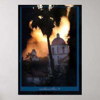 the santa barbara mission poster
