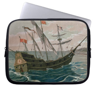 The Santa Maria Approaching the Coast of the New W Laptop Computer Sleeves