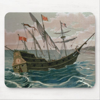The Santa Maria Approaching the Coast of the New W Mouse Pad