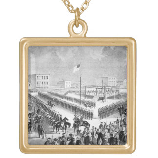 The Santee Sioux Uprising, Mankato, Minnesota, 186 Gold Plated Necklace