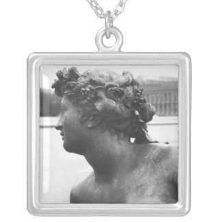 The Saone River ,from the Parterre Silver Plated Necklace