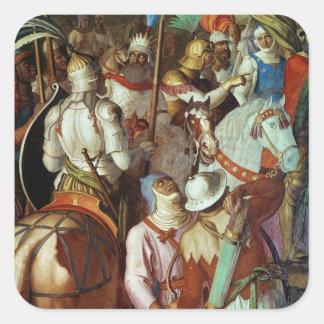 The Saracen Army outside Paris, 730-32 AD Square Sticker