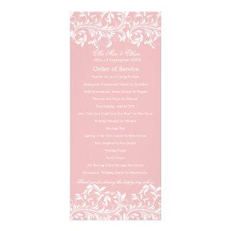 The Sarah Jane Pink white Order of Service Invites