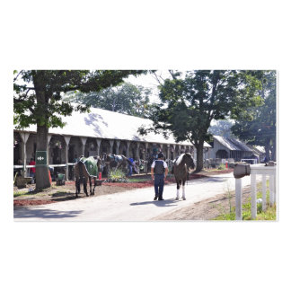 The Saratoga backstretch on opening day Pack Of Standard Business Cards