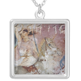The Sarcophagus of the Amazons Silver Plated Necklace