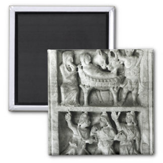 The Sarcophagus of the Nativity Square Magnet