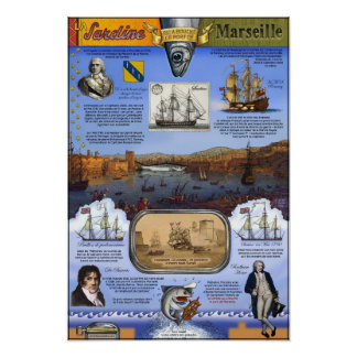 The Sardine that blocked the port of Marseille Poster