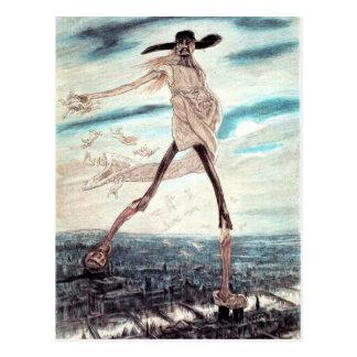 The Satanic Satan Sowing Tares postcard