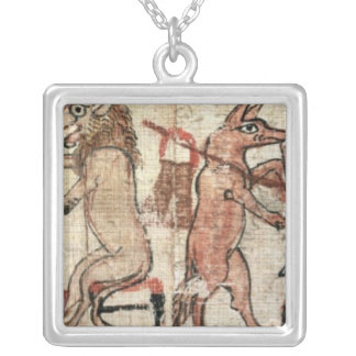 The Satirical Papyrus Silver Plated Necklace