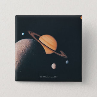 The Saturnian System 15 Cm Square Badge