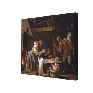The Satyrs and the Family Gallery Wrap Canvas