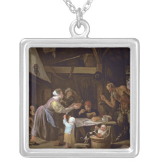 The Satyrs and the Family Silver Plated Necklace