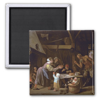 The Satyrs and the Family Square Magnet