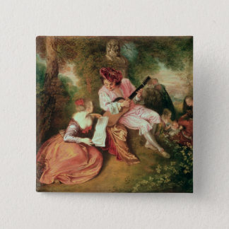 The Scale of Love, 1715-18 15 Cm Square Badge
