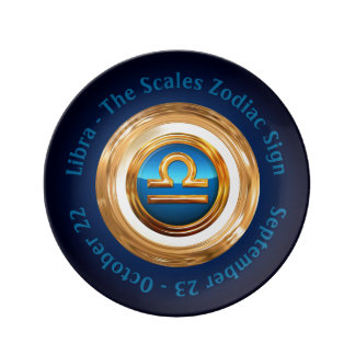 The Scales Zodiac Sign With Custom Curved Text Plate