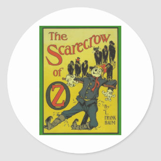 The Scarecrow Of Oz Classic Round Sticker