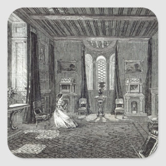 The Scarlet Drawing-room, Lansdown Tower Square Sticker