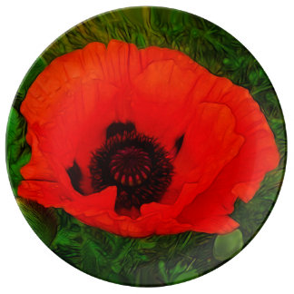 The Scarlet Poppy Plate