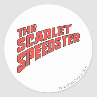 The Scarlet Speedster Logo Classic Round Sticker