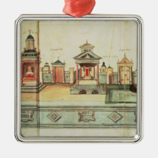 The Scenery for Valenciennes Mystery Play Christmas Ornament