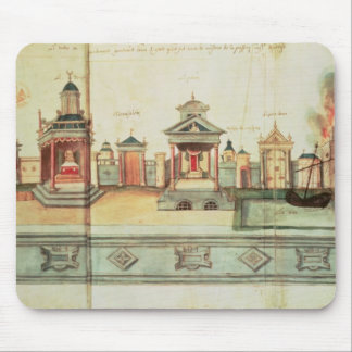 The Scenery for Valenciennes Mystery Play Mouse Mat