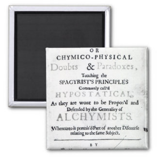 'The Sceptical Chymist' Magnet