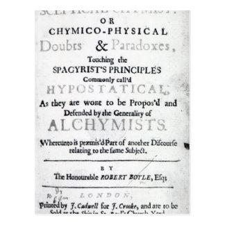 'The Sceptical Chymist' Postcard