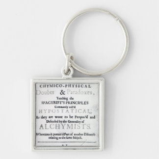 'The Sceptical Chymist' Silver-Colored Square Key Ring
