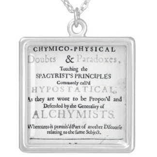 'The Sceptical Chymist' Silver Plated Necklace