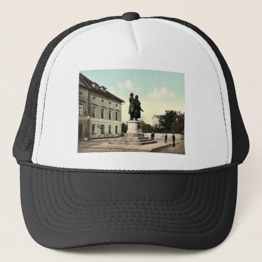 The Schiller and Goethe Monument, Weimar, Thuringi Trucker Hat