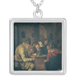 The School Master, 1626-79 Silver Plated Necklace