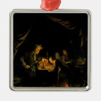 The School Master, 1660-65 (oil on panel) Christmas Ornament