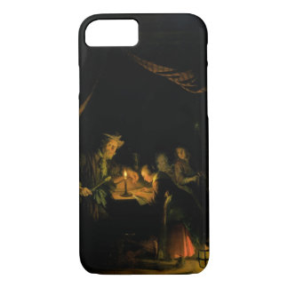 The School Master, 1660-65 (oil on panel) iPhone 8/7 Case