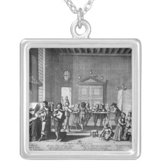 The School Master Silver Plated Necklace